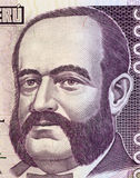 Admiral Miguel Grau. On 5000 Indis 1988 Banknote from Peru. Naval officer and hero of the battle of Angamos in the war of the pacific during 1879-1884. One of Royalty Free Stock Image