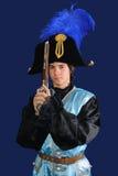 Admiral mit einer Pistole Lizenzfreie Stockfotografie
