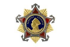 Admiral Nakhimov Order des i-Grads. Stockfotografie