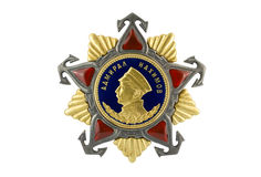 Admiral Nakhimov Order of I degree. Admiral Nakhimov Order of I degree on white background stock photography
