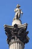 Admiral Nelson Statue auf Nelsons Spalte in London Lizenzfreies Stockbild