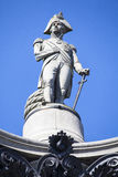 Admiral Nelson Statue on Nelson's Column in London Royalty Free Stock Photo