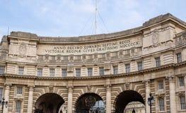 Admiralitäts-Bogen, ein Markstein in London Stockbilder
