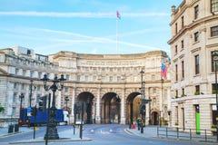 Admiralitäts-Bogen nahe Trafalgar-Platz in London Lizenzfreies Stockfoto