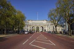 Admiralitäts-Bogenmonument die Mallstraße in London Lizenzfreies Stockfoto