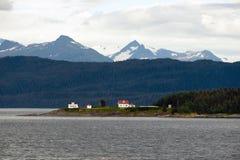 Admiralitäts-Insel-Punkt-Rückzug-Leuchtturm innerhalb des Durchganges Lizenzfreie Stockbilder