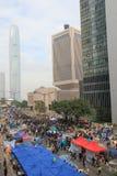 Admiralitäts-Regenschirmbewegung in Hong Kong Stockfoto