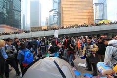 Admiralitäts-Regenschirmbewegung in Hong Kong Stockfotos