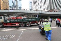 Admiralitäts-Regenschirmbewegung in Hong Kong Lizenzfreies Stockfoto