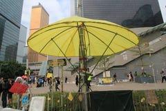 Admiralitäts-Regenschirmbewegung in Hong Kong Stockbilder