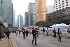Admiralitäts-Regenschirmbewegung in Hong Kong Lizenzfreie Stockbilder