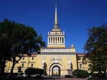 Admiraliteit van St. Petersburg De overzeese hoofdstad van Rusland Details en close-up stock foto