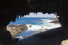 Admirals Arch on Kangaroo Island, South Australia Royalty Free Stock Images