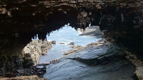 Admirals Arch on Kangaroo Island, South Australia Stock Photography