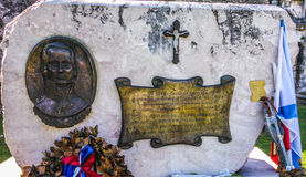 Admirals Ousakov monument in Corfu Greece. Admiral Ousakov was officer of Russian navy Royalty Free Stock Photo