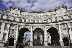 Admiralty Arch.Historic architecture of London,Uk. stock photography