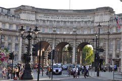Admiralty Arch in London, England. LONDON, ENGLAND - SEP 2: Admiralty Arch in London, England, as seen on Sep 2, 2011. It incorporates an archway providing road Royalty Free Stock Photography