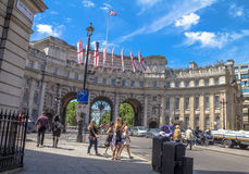 Admiralty Arch in London. UK Royalty Free Stock Image