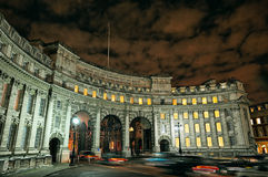 Admiralty Arch, Mall, London, England, UK, Europe. Illuminated at night in winter Royalty Free Stock Image