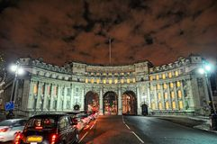 Admiralty Arch, Mall, London, England, UK, Europe. Illuminated at night in winter Stock Images