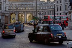 Admiralty Arch - London, UK. Admiralty Arch near Trafalgar Square, standing on the Mall Street connecting Trafalgar Square with Buckingham Palace. Great Britain Royalty Free Stock Photography