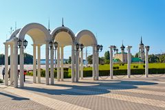 The Admiralty area in the city of Voronezh. Input on the Admiralty area of the city of Voronezh, Russia photographed in solar weather Royalty Free Stock Images