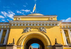 The Admiralty building in Saint Petersburg Royalty Free Stock Photo