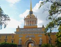 Admiralty building, Saint Petersburg Stock Photos