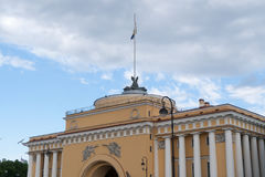 The Admiralty building in St. Petersburg, Russia. Royalty Free Stock Photos