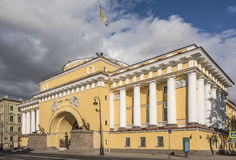 The Admiralty, the facade of the Neva. Saint Petersburg Stock Images