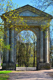 Admiralty gate in Palace Garden. Gatchina, St. Petersburg, Russia. Admiralty gate in Palace Garden in State Museum in Gatchina, St. Petersburg, Russia Stock Photo