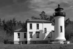 Admiralty Head Lighthouse. Coupeville, WA, USA March 27, 2006: Admiralty Head Lighthouse, located at Fort Casey on Whidbey Island in Washington state, was built Stock Images
