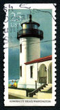 Admiralty Head Lighthouse Postage Stamp Royalty Free Stock Photos