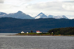 Admiralty Island Point Retreat Light House Inside Passage Royalty Free Stock Images