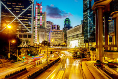 Night view of Hong Kong Stock Photos