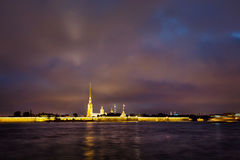 Admiralty spire on Neva River. Admiralty spire on the Neva River Stock Images