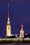 Admiralty spire in St Petersburg Stock Image