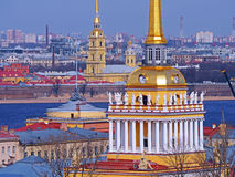 Admiralty in sunny day, Saint-Petersburg, Russia Stock Photo