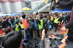 Admiralty umbrella movement Royalty Free Stock Image