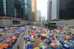 Admiralty umbrella movement in Hong Kong Royalty Free Stock Photos