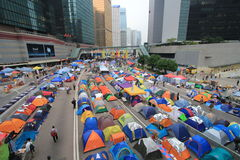 Admiralty umbrella movement in Hong Kong Royalty Free Stock Photography