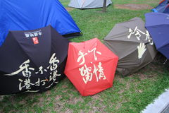 Admiralty umbrella movement in Hong Kong Stock Photos