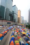 Admiralty umbrella movement in Hong Kong Royalty Free Stock Image