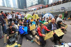 Admiralty umbrella movement in Hong Kong Royalty Free Stock Photo