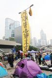Admiralty umbrella movement in Hong Kong Stock Photography
