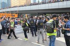 Admiralty umbrella movement in Hong Kong Stock Photos