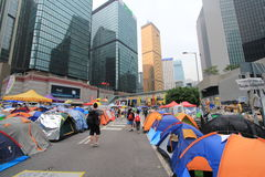 Admiralty umbrella movement in Hong Kong Stock Photo