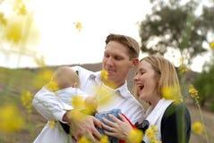 Admirando o bebê novo Foto de Stock