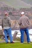Admirando a praia de Pismo Fotografia de Stock Royalty Free