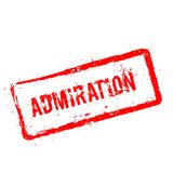 ADMIRATION red rubber stamp isolated on white. Stock Images
